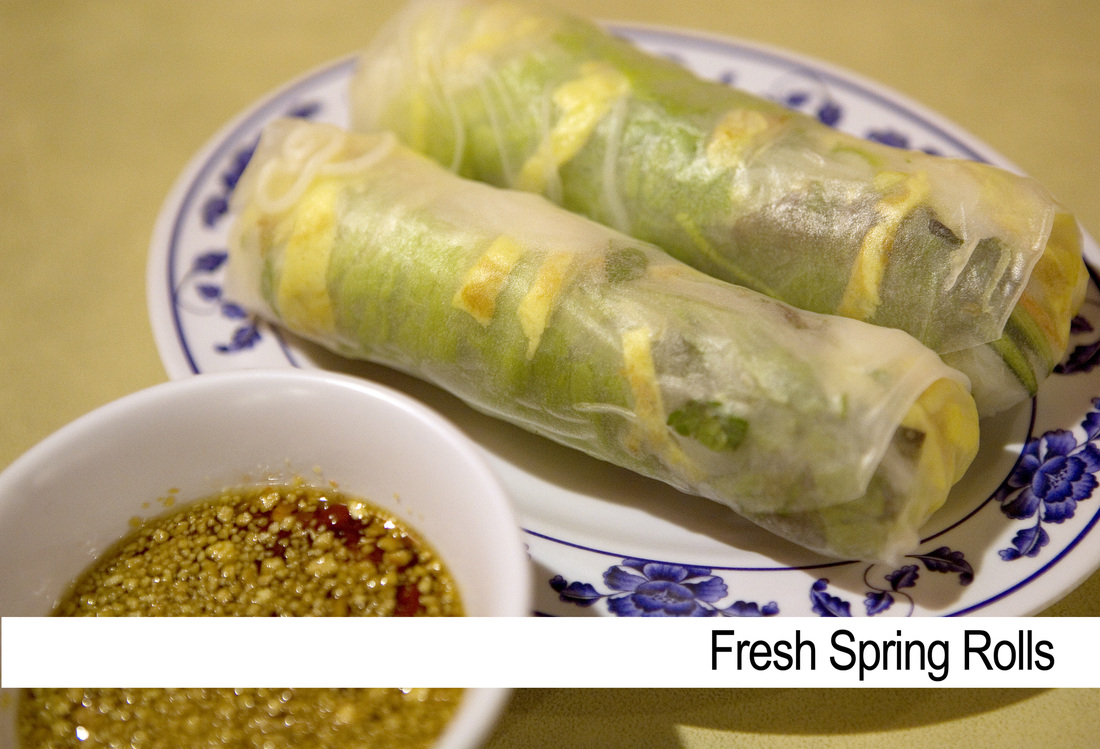 Spring Rolls are a favorite of guests at The Speckled Hen Inn
