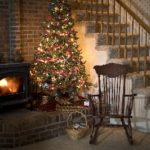Wood Stove at Christmas